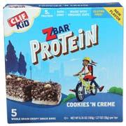 Clif Kids Zbar Organic Cookies N Creme Protein Bar, 1.27 Ounce -- 30 per case