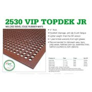 Cactus Red Vip Topdek Junior Floor Mat, 1/2 inch -- 1 each.