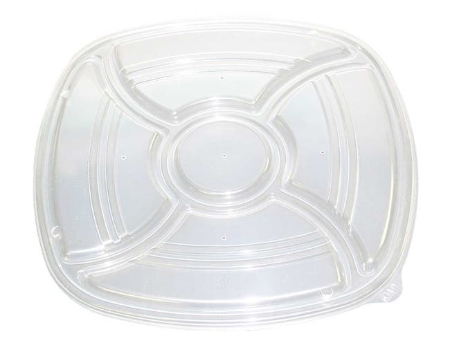 D and W Fine Pack Forum Polystyrene Clear Container Lid Only, 14 inch -- 48 per case.
