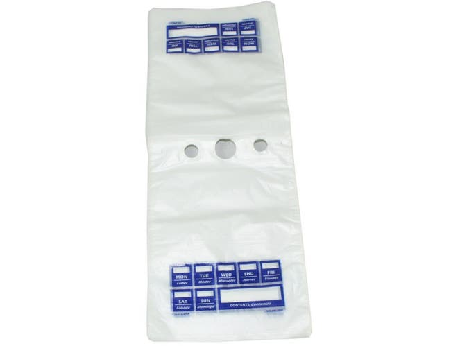 Pak Sher 7 Day Food Storage Portion Bag -- 2000 per case.