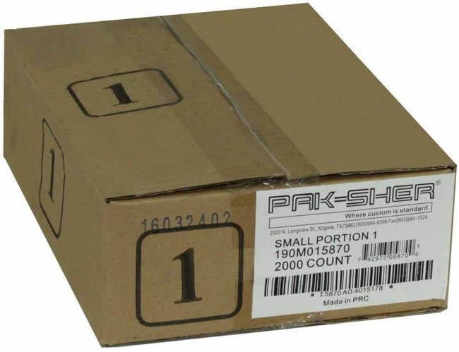 Pak Sher 6.37 x 7 inch Food Storage Portion Bag, 1 Pound -- 2000 per case.