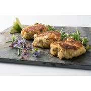Miss Sallys 2 Ounce Raw Battered Crab Cake, 3 Pound -- 6 per case.