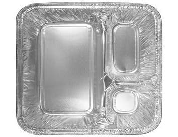 Handi Foil Oblong 3 Compartment Tray with Lid -- 250 per case.