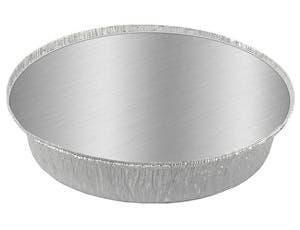 Handi Foil Aluminum Round Container with Lid, 8 inch -- 200 per case.