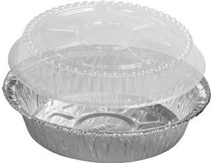 Handi Foil Aluminum Round Container with Dome Lid, 7 inch - Combo Pack -- 250 per case.