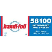 Handi Foil Interfolded Foil Sheet, 8 x 10.75 inch - 500 per pack -- 6 packs per case.