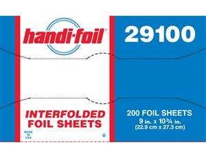 Handi Foil Interfolded Aluminum Foil Sheets -- 2400 per case.