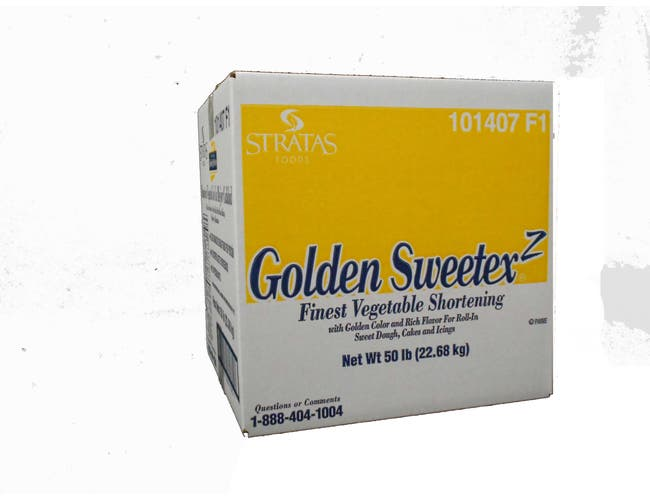 Golden Sweetex Z Finest Vegetable Shortening Oil, 50 Pound -- 1 each.