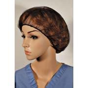 Cellucap Brown Polyester Hairnet, 24 inch - 100 per pack -- 10 packs per case.