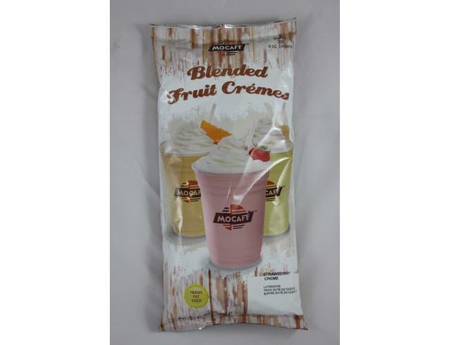 Mocafe Strawberry Blended Fruit Creme Smoothie, 3 Pound Bag -- 4 per case.