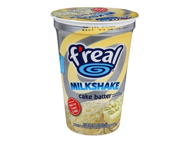 F`Real Cake Batter Milkshake, 10 Fluid Ounce -- 12 per case