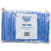 Amercare F Real Poly Blue Wrapped Giant Straw, 300 count per pack -- 4 per case.