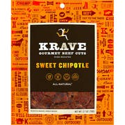 Krave Sweet Chipotle Gourmet Beef Cut, 2.7 ounce -- 8 per case.