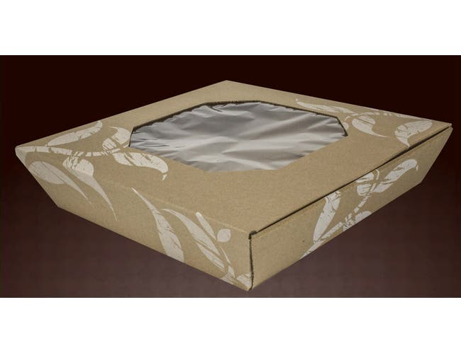 LBP Square Corrugated Catering Tray and Windowed Cover, 16 inch -- 35 set per case.