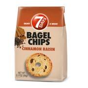 7 Days Cinnamon Raisin Bagel Chips, 3.17 Ounce -- 12 per case.