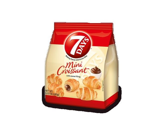 7 Days Cocoa Mini Croissant, 6.53 Ounce -- 8 per case.