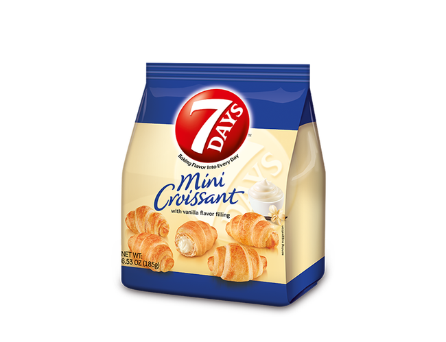 7 Days Vanilla Mini Croissant, 6.53 Ounce -- 8 per case.