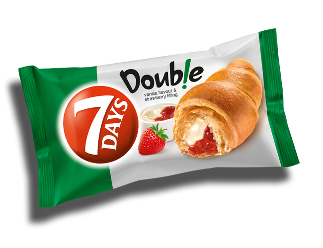 7 Days Strawberry and Vanilla Soft Croissant, 2.65 Ounce -- 24 per case.