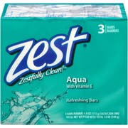 Zest Aqua 3 Bar 4 Ounce Soap, 12 Ounce -- 48 per case.