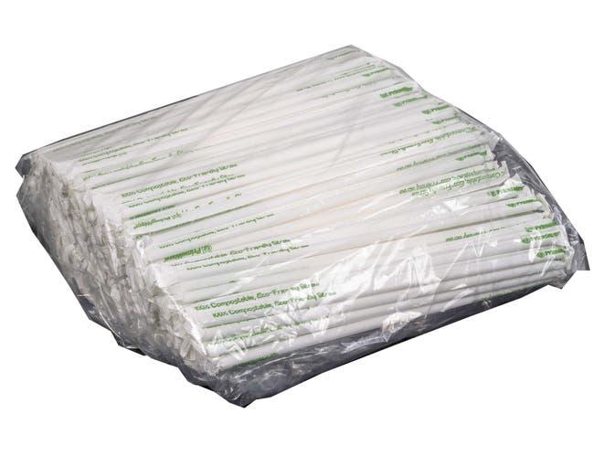 Primeware Clear PLA Giant Paper Wrapped Straw, 10.25 inch -- 3600 per case.