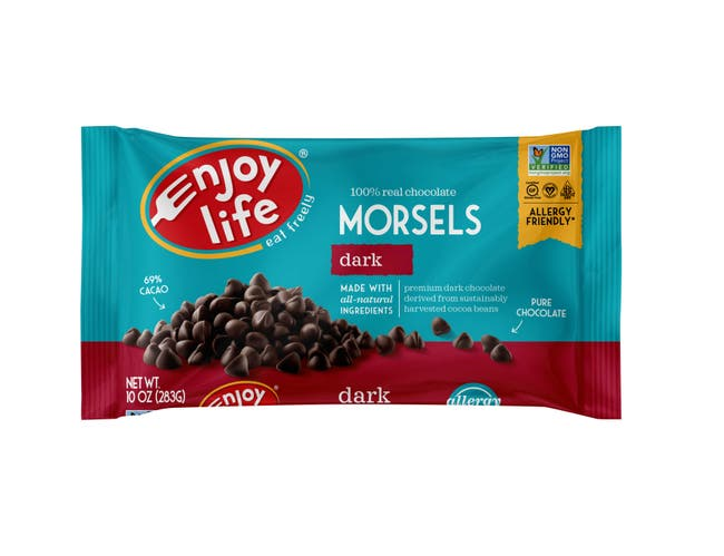 Enjoy Life Mini Chip and Dark Morsels Baking Chocolate -- 60 per case.