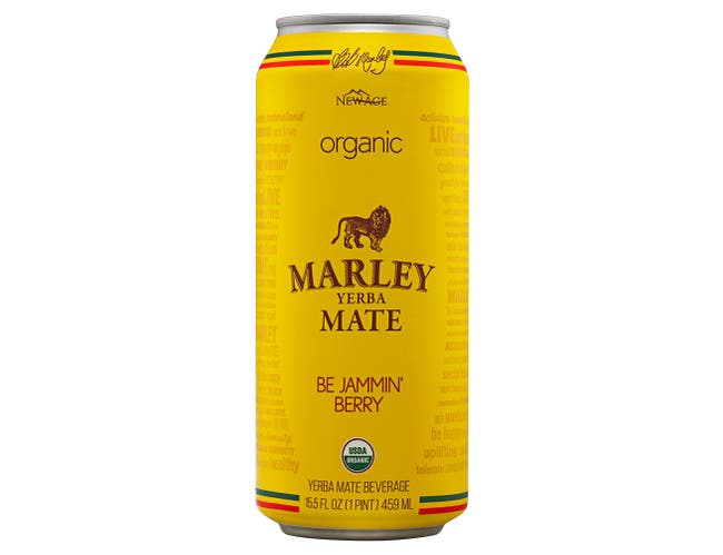 Marley Be Jammin Berry Yerba Mate Beverage, 15.5 Fluid Ounce -- 12 per case.