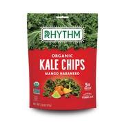 Rhythm Superfoods Organic Mango Habanero Kale Chips, 2 Ounce -- 12 per case