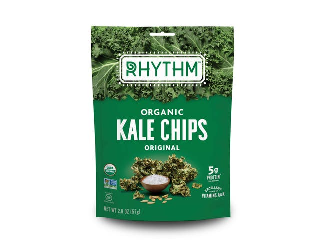 Rhythm Superfoods Organic Original Kale Chips, 2 Ounce -- 12 per case