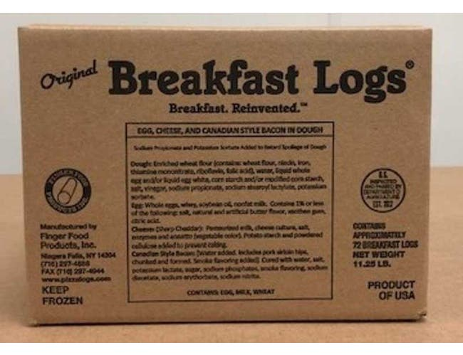 Original Breakfast Log Deep Fry Egg, Cheese and Canadian Style Bacon -- 72 per case