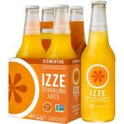 Izze Natural Clementine Sparkling Juice, 12 Ounce -- 24 per case.
