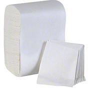 Value Essentials 1 Ply Interfold White Express Napkin, 8.5 x 13 inch -- 6000 per case.