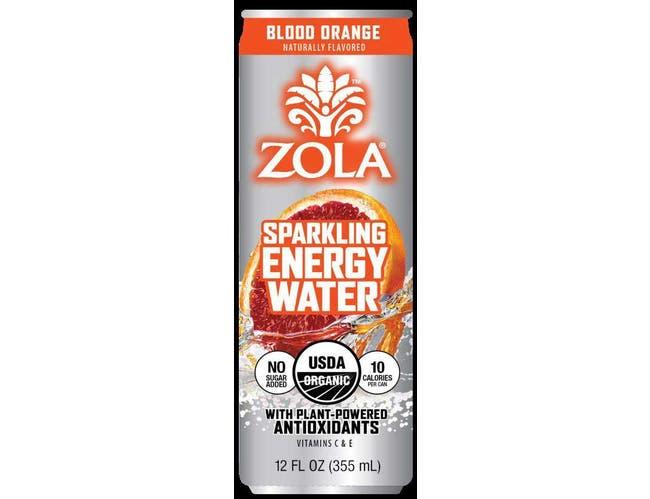 Zola Blood Orange Sparkling Energy Water, 12 Fluid Ounce -- 12 per case.