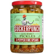 Sucker Punch 3-Pepper Fire Spears Pickle, 24 Ounce -- 6 per case