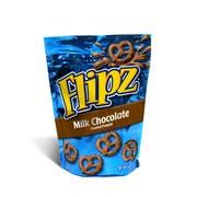 Flipz Milk Chocolate Covered Pretzel, 5 Ounce -- 6 per case.