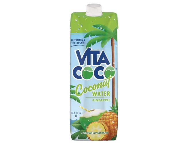 Vita Coco Pineapple Coconut Water, 1 Liter -- 12 per case.