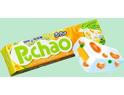 Uha Mikakuto Puchao Melon Gummy and Soft Candy, 1.76 Ounce -- 10 per case