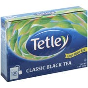 Tetley Regular Black Tea, 100 tea bags per pack -- 12 per case