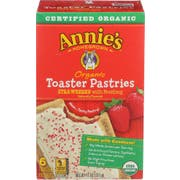 Annies Homegrown Organic Strawberry Toaster Pastries, 6 count per pack -- 12 per case