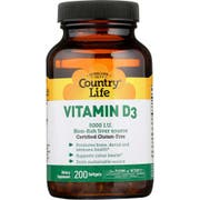 Country Life Vitamin D3 5000 IU Dietary Supplement Softgel - 200 count per pack -- 1 each