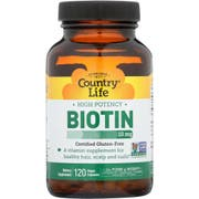 Country Life High Potency 10mg Biotin Vegan Capsule - 120 count per pack -- 1 each