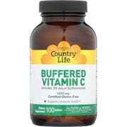 Country Life Buffered Vitamin C 1000mg with Bioflavonoids Tablet - 100 count per pack -- 1 each