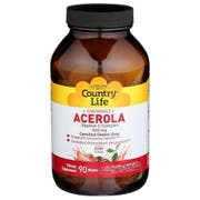 Country Life Acerola and Vitamin C Complex 500mg Chewable Wafers - 90 count per pack -- 1 each