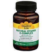 Country Life 400 IU Natural Vitamin E Complex Softgel - 90 count per pack -- 1 each