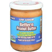 Better N Peanut Butter Low Salt Peanut Spread, 16 Ounce -- 6 per case