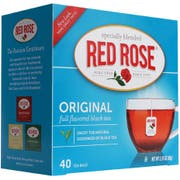 Red Rose Original Black Tea, 40 tea bags per pack -- 6 per case