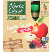 North Coast Organic Apple Sauce with Berries, 4 count per pack -- 6 per case