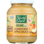 North Coast Organic Honey Crisp Apple Sauce, 24 Ounce -- 6 per case
