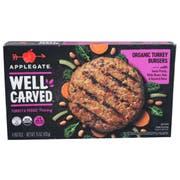 Applegate Well Carved Organic Turkey Plus Veggie Burger, 15 Ounce -- 12 per case