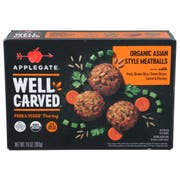 Applegate Well Carved Asian Style Pork Plus Veggie Meatballs, 10 Ounce -- 12 per case