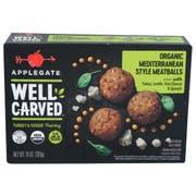 Applegate Well Carved Mediterranean Style Turkey Plus Veggie Meatballs, 10 Ounce -- 12 per case